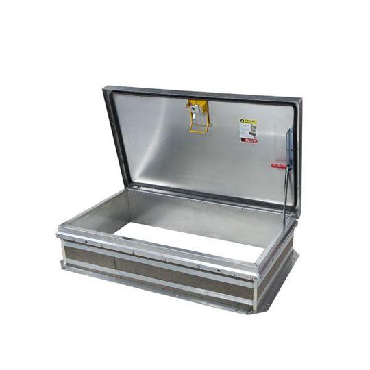 """TRI-BUILT 30"""" x 54"""" Galvanized Roof Hatch - HC Zone White"""