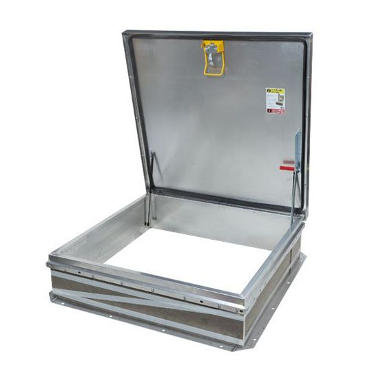 "TRI-BUILT 48"" x 48"" Galvanized Roof Hatch - HC Zone White"