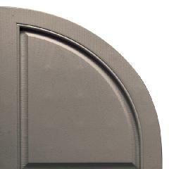 TRI-BUILT Quarter Round Arch Open Louver Shutter Top (Pair)