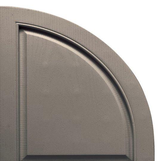 TRI-BUILT Quarter Round Arch Solid Shutter Top (Pair) White