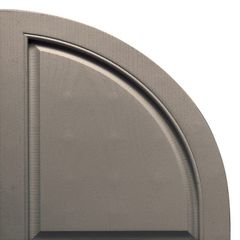 TRI-BUILT Quarter Round Arch Solid Shutter Top (Pair)