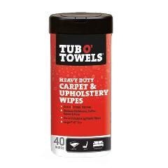 Gasoila Tub O' Towels® Carpet & Upholstery Scrubbing Wipes -...