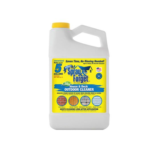 Spray & Forget House and Deck No-Rinse Eco-Friendly Exterior Spray Cleaner - 64 Oz.