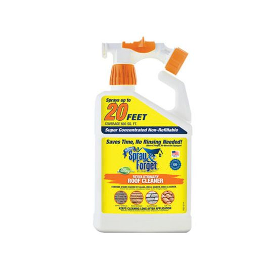 Spray & Forget Roof and Exterior Surface Cleaner with Built-in Hose Sprayer - 32 Oz.
