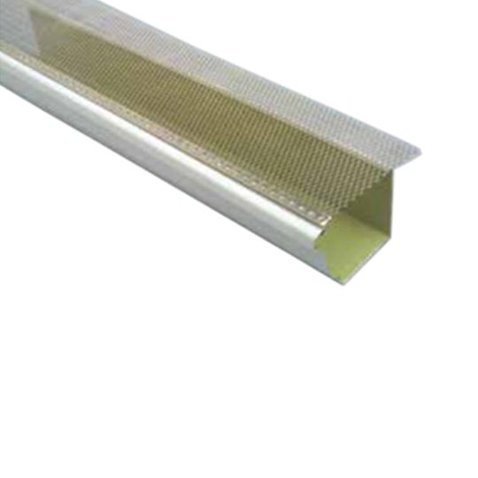 "TRI-BUILT 5"" x 3' K-Style Drop-In Mill Finish Aluminum Gutter Guard"