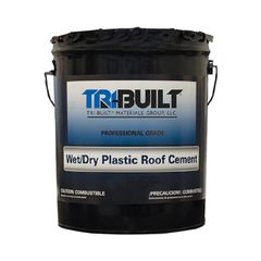 TRI-BUILT Wet/Dry Plastic Roof Cement - Summer Grade