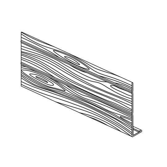 "Klauer Manufacturing Company 8"" x 12' Classic Steel Woodgrain Fascia Sandalwood"
