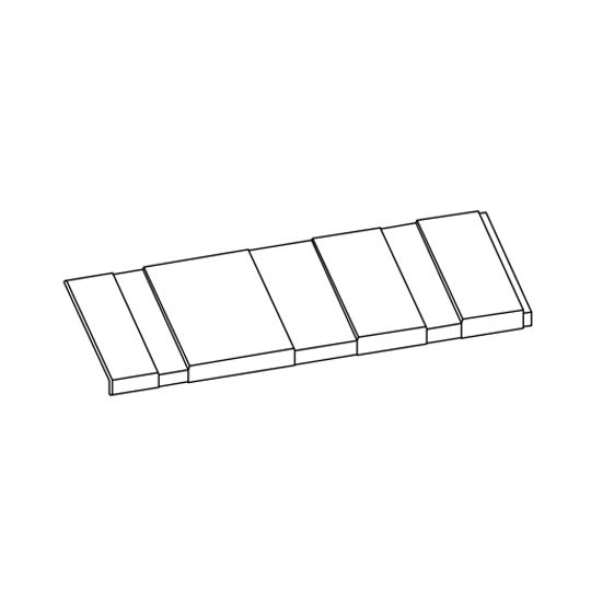 "Klauer Manufacturing Company 12"" x 48"" Classic Steel Shake Accent Siding Panel Mocha"