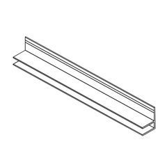 Klauer Manufacturing Company 12' Classic Aluminum F-Channel Starter Strip
