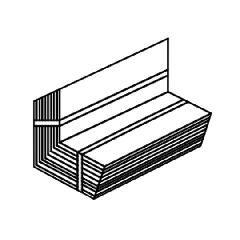 "TRI-BUILT 8"" x 8"" Steel Step Flashing Shingles with Crimp - Bundle of 50"