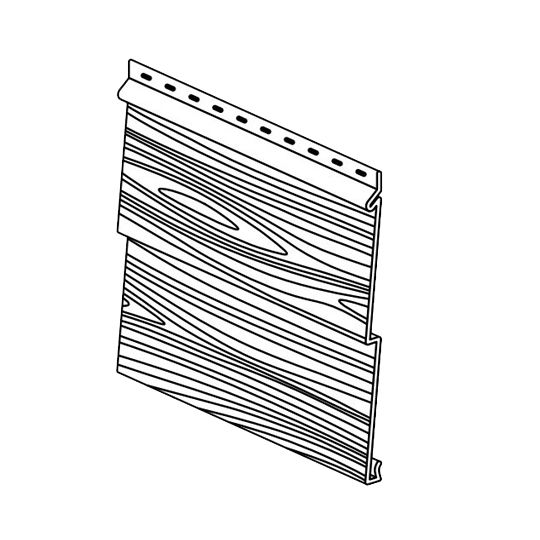 "Klauer Manufacturing Company Double 5"" Classic Steel Woodgrain Dutchlap Siding Panel Dusty Ash"