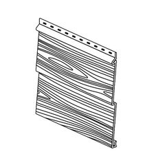 "Klauer Manufacturing Company Double 5"" Classic Steel Woodgrain Dutchlap..."