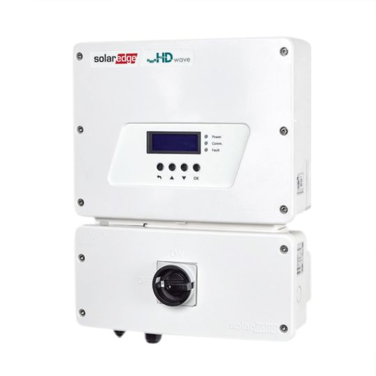 SolarEdge Technologies 3.8 Kilowatt EV Charging Single Phase Inverter with HD-Wave Technology & RGM