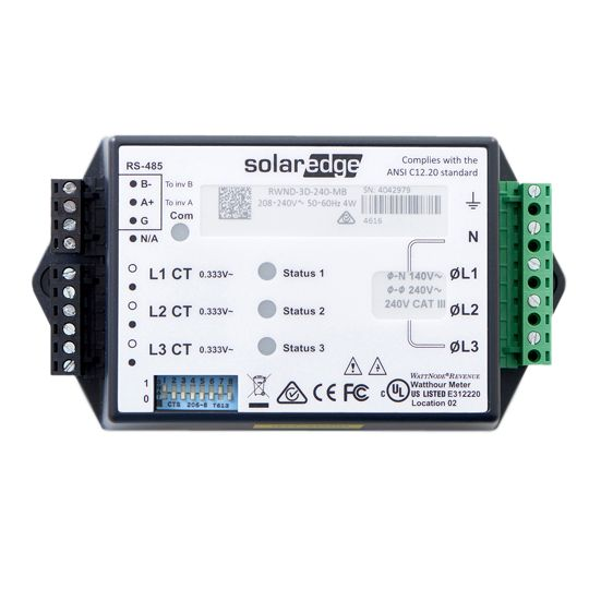 SolarEdge Technologies 480-Volt Three Phase Revenue Grade Meter without Current Transformer