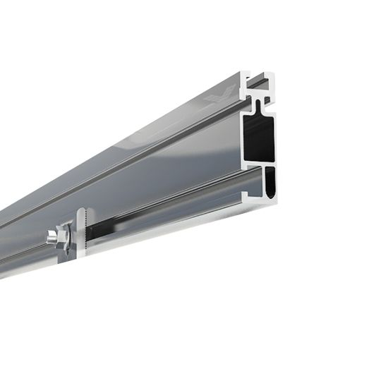 "Unirac 168"" Solarmount Standard Rail Dark Bronze Anodized (Black)"