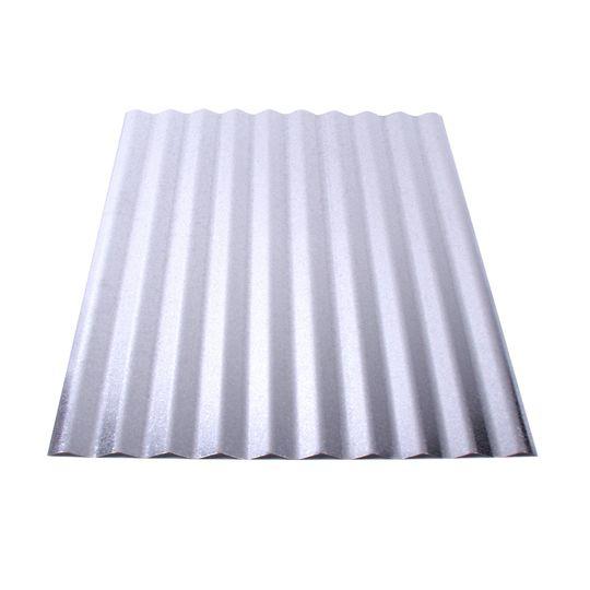 """Union Corrugating 29 Gauge x 24"""" x 10' Galvanized Corrugated Panel"""