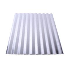"Union Corrugating 29 Gauge x 24"" x 8' Galvanized Corrugated Panel"
