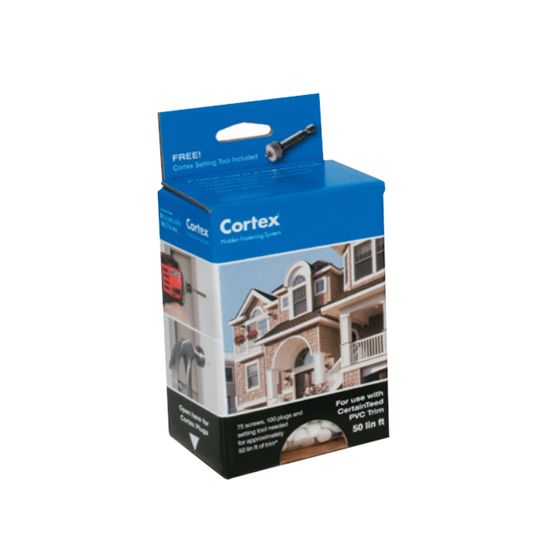 "CertainTeed Vinyl Building Products Cortex® Trim Fastening System with 2"" Textured Screws - 50 Lin. Ft. Box"