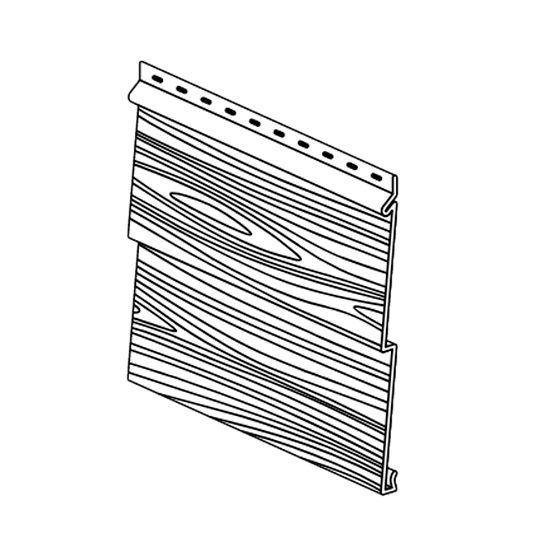 "Klauer Manufacturing Company Double 5"" Prestige Steel Woodgrain Siding Panel River Birch"