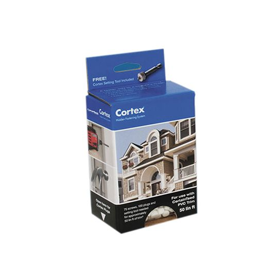 "CertainTeed Vinyl Building Products Cortex® Trim Fastening System with 2-3/4"" Smooth Screws - 750 Lin. Ft. Box"