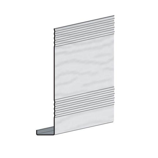 "Edco Products 8"" x 10' EnduraGrain Steel Fascia - ENTEX Finish Charcoal Grey"