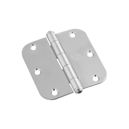 "National Hardware 3-1/2"" Stainless Steel Round Corner Door Hinge"