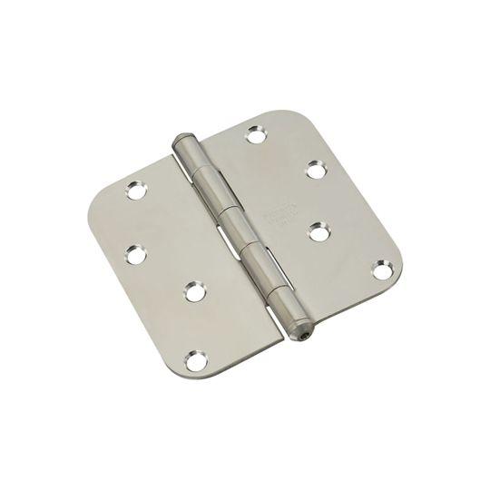 "National Hardware 4-5/8"" Stainless Steel Round Corner Door Hinge"