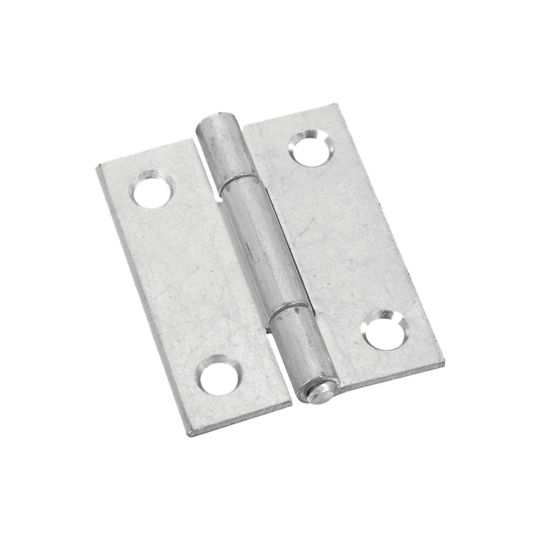 "National Hardware 2"" Zinc Plated Non-Removable Narrow Pin Hinges - Pack of 2"