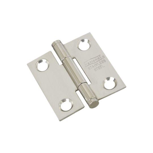 "National Hardware 1-1/2"" Stainless Steel Door Hinge - Pack of 2"