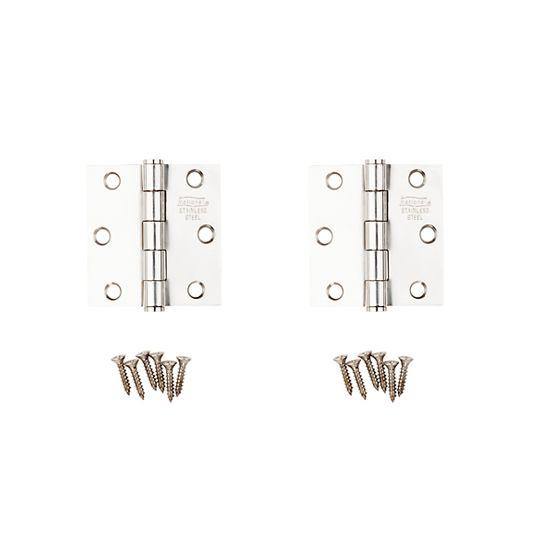 "National Hardware 2-1/2"" Stainless Steel Door Hinge - Pack of 2"