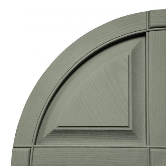 TRI-BUILT Quarter Round Arch Raised Panel Shutter Top (Pair) Bordeaux