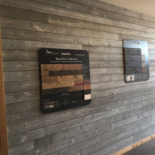 "Great American Spaces 1"" x 6"" x 12' ShipLap Board Charcoal"
