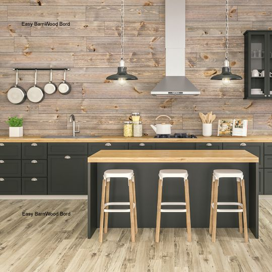 "Great American Spaces 1"" x 8"" x 16' Easy BarnWood™ V-Groove Board Silver Ash"