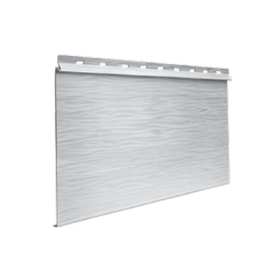 "Quality Edge TruCedar® Single 8"" Steel Siding Pewter"