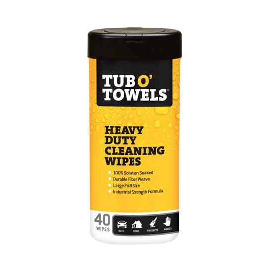 Orgill Tub O' Towels® Multi-Purpose Scrubbing Wipes Plus Display - Kit of 48 Canisters