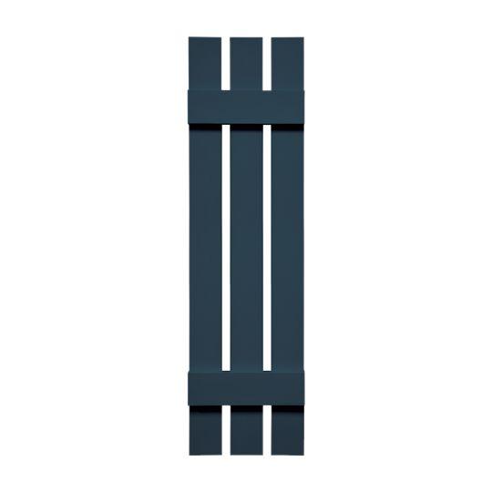 "TRI-BUILT 12"" x 67"" Standard Board-N-Batten 3-Board Spaced Shutters (Pair) White"