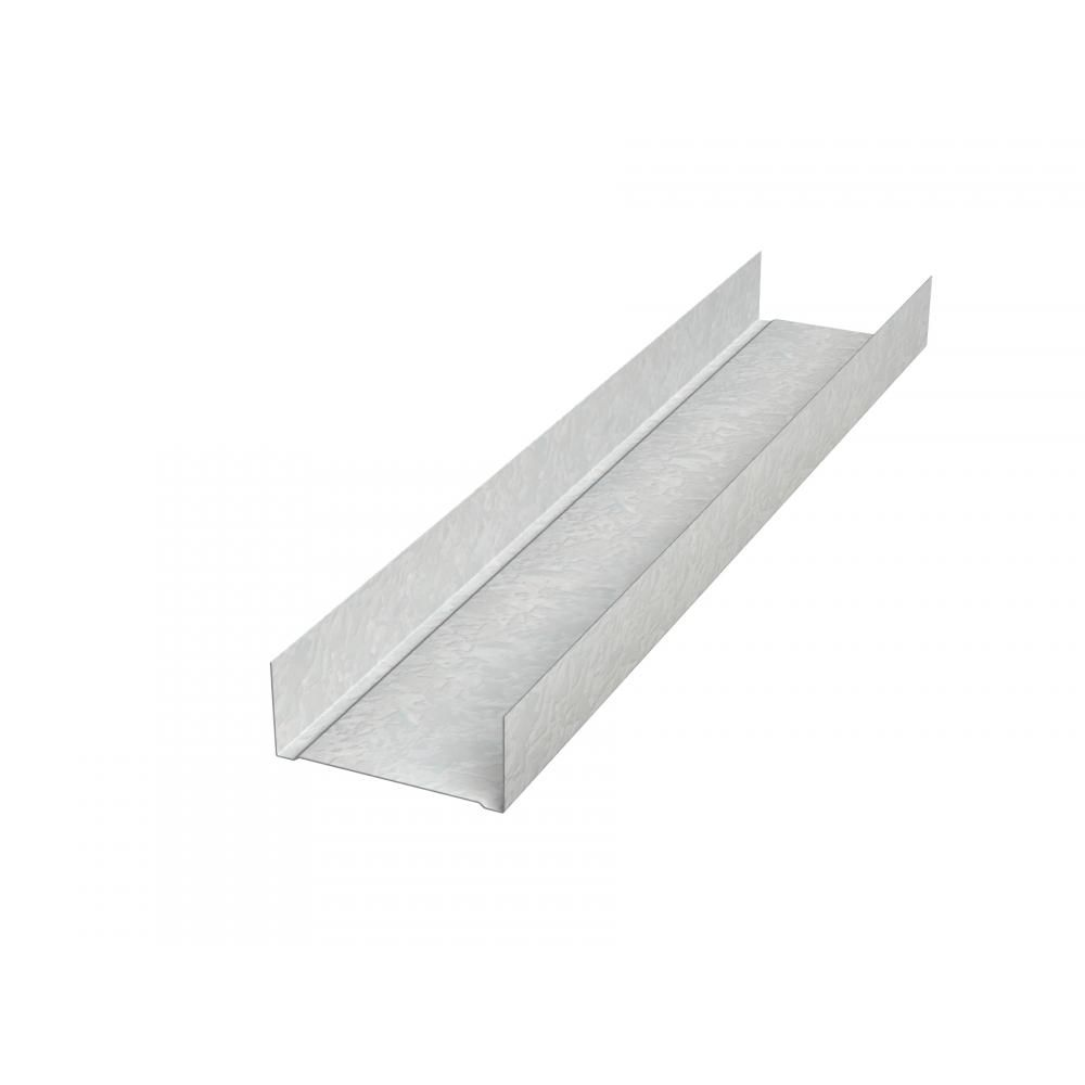"Generic Steel 25 Gauge x 2"" x 10' C Runner Area Separation Wall Profile"