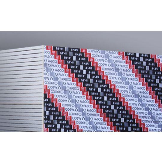"""PABCO Gypsum 5/8"""" x 4' x 12' Flame Curb® Type X Gypsum Wall Board"""