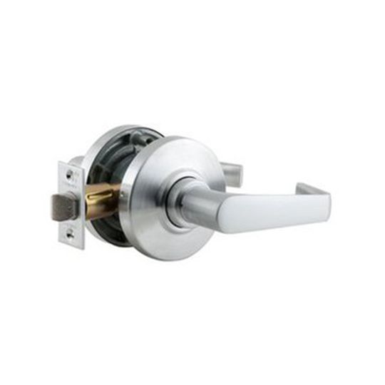 Schlage AL10S Jupiter Passage Door Lever Set Satin Chrome