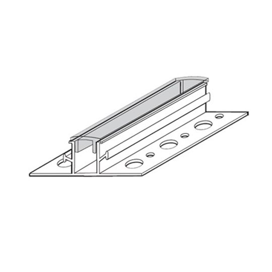"""Vinyl Corp 3/4"""" x 10' Channel Reveal - 1/2"""" Reveal, 2-1/2"""" Overall Width & Perforated Flanges"""