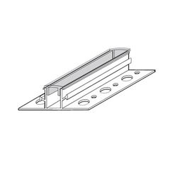 """Vinyl Corp 3/4"""" x 10' Channel Reveal - 1/2"""" Reveal, 2-1/2"""" Overall Width..."""