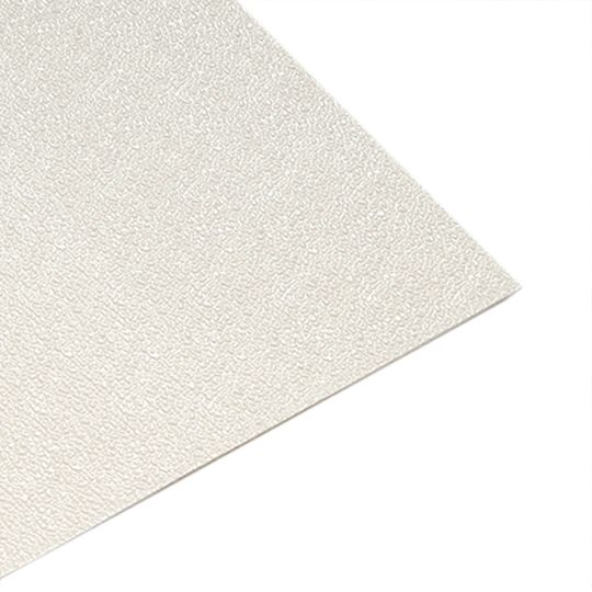 "Glasteel .090"" x 4' x 9' Class C Textured FRP Wall Panel White"