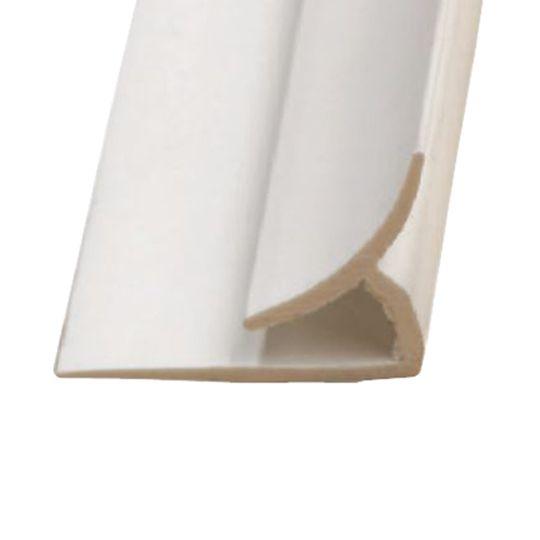 Marlite 10' PVC Inside Corner Trim Light Grey