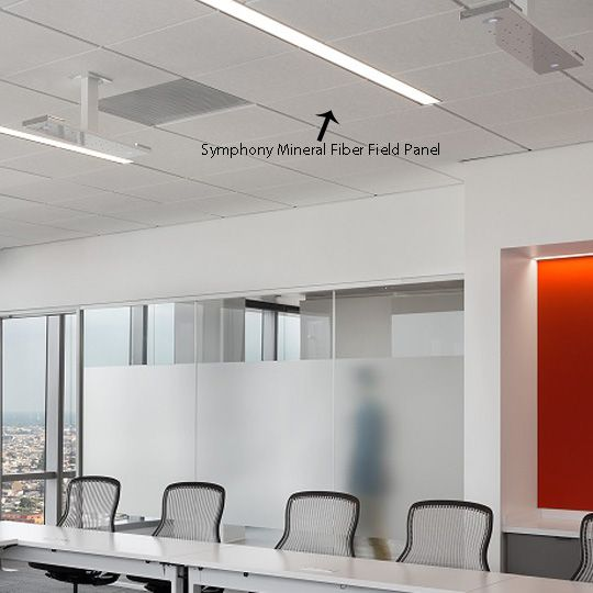 "Certainteed Ceilings 3/4"" x 2' x 2' Narrow Reveal Edge Performa® Symphony® m Mineral Fiber Field Panel - NRC 70 - 56 Sq. Ft. per Carton"
