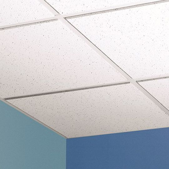 "Certainteed Ceilings 5/8"" x 2' x 2' Trim Edge Baroque™ Fire Rated Mineral Fiber Ceiling Tile - 64 Sq. Ft. per Carton"