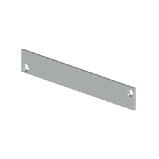 "Hager Companies .134"" x 1"" x 6-3/4"" 336K Flush Bold Filler Plate for Doors"