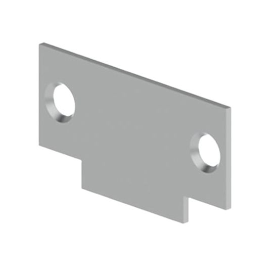 """Hager Companies .083 x 1-1/8"""" x 2-3/4"""" 336P Cylindrical Lock Strike Filler Plate for Frame"""