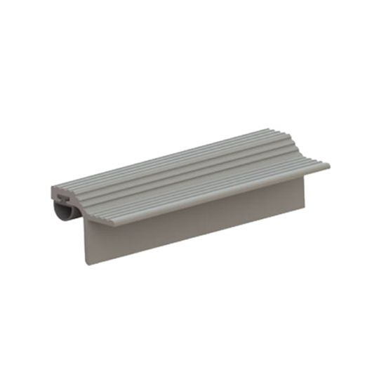 """Hager Companies 1-3/16"""" x 84"""" 837SS Astragal/Meeting Stile with Silicone Insert Mill Finish"""