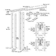 """Hager Companies 9630 Pocket Door Kit for Doors 1-3/8"""" - 1-3/4"""" Thick, Up..."""