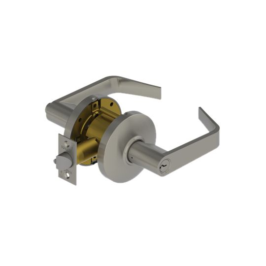 Hager Companies 3553 Entry Lockset Archer Lever Satin Chrome